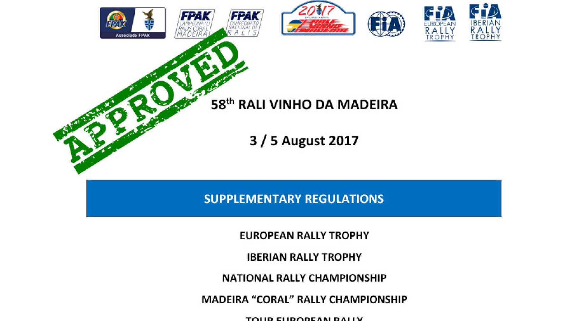 Supplementary Regulations Approved